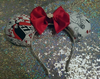 Painting the Roses Red - Alice in Wonderland - Minnie Mouse Disney Ears