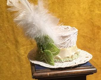 White Mini Top Hat