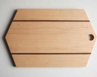 Hard Maple Geometric Serving Board