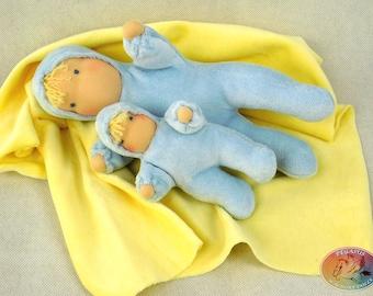 "Waldorf, Steiner big softy doll, 9"", 22cm, hand made"