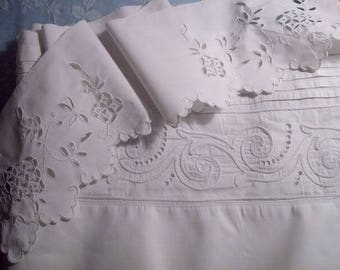 2 nice old items embroidered creations, old embroideries