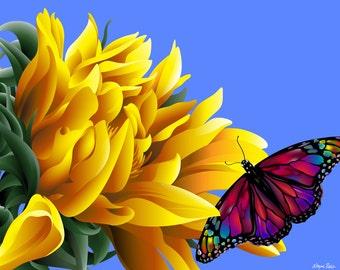 Sun Petals (Glicee Print from an Original Illustration)