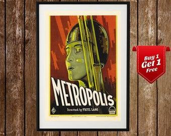 Metropolis Vintage Movie Poster (1927) - Metropolis Print, Metropolis Film Poster, Fritz Lang, Metropolis 1927 Poster, Cinema, German
