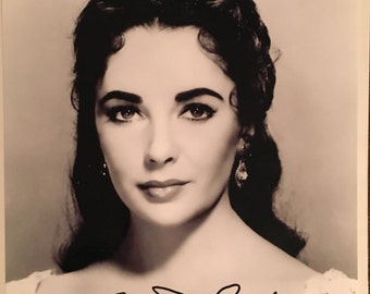 ELIZABETH TAYLOR Hand-Signed Raintree County Autograph Photograph with COA