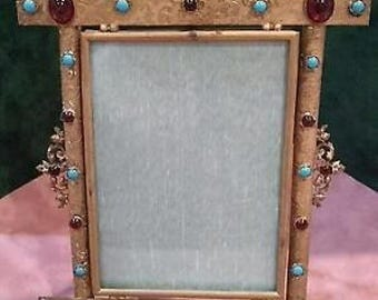 Austrian Austro Hungarian Jeweled Picture Frame