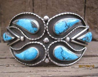 Zuni Bracelet-Vintage Cuff with Great Stones!  Now On Sale!