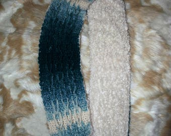 Crochet Scarf, fur scarf, crochet, Optional Fur Lining