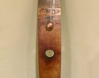 Rustic Wine Barrel Stave Coat Hanger