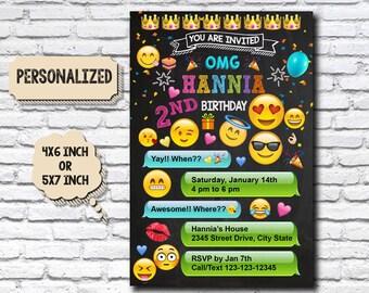 Emoji / Emoji Invitation / Emoji Birthday / Emoji Party / Emoji Birthday Party / Emoji Birthday Party Invitation / Emoji Card / Emoji Invite