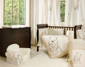 Disney Winnie the Pooh Crib Bedding Collection 4 Pc Crib Bedding Set