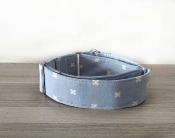 Cotton and Steel Lavender Purple X Cross Cute Martingale / Quick Release / Greyhound / Italian / Whippet