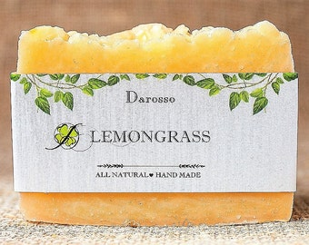 Lemongrass Soap,  All Natural Soap, Handmade Soap, Detox Soap, Vegan, Gift for him, Gift for her, Luxury Soap, Organic Soap