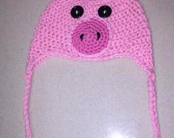 Crochet Pig Baby Hat