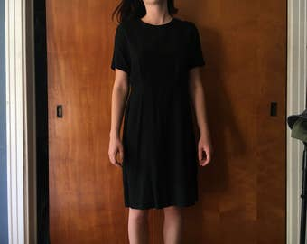 1950's Vintage Black Dress (Size S/M)