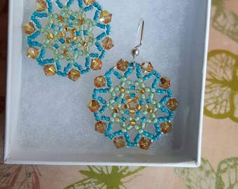 Beautiful Handmade Beaded Earrings. Great for everyday use, holiday jewelry or any special occasion!!