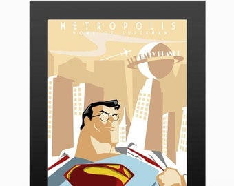 Superman - Metropolis Travel poser