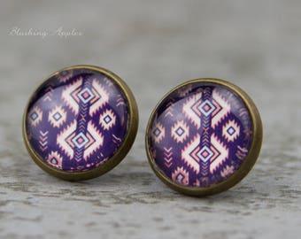 """Earrings """"Aztec"""", 12 mm / / style boho, ethnic, hippie, Bohemian,."""