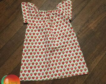 Strawberry Peasant Dress - Size 3