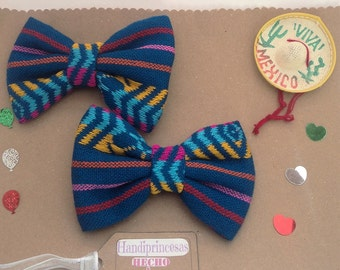Hair bow Mexican. Par Mexican monkey. Bow Hair mexican. Hair accessories. Monos.hair bow pair.