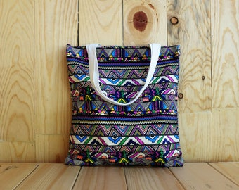 Graphic Pattern Tote, Canvas Tote Bag, Eco Tote Bag