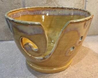 Stoneware Yarn Bowl - knitting bowl