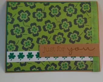 Just for You St. Patrick's Day Card