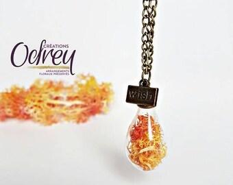 CLEARANCE, terrarium necklace, pendant lamp, flower, Flower necklace, botanical jewelry, decor, rear view mirror
