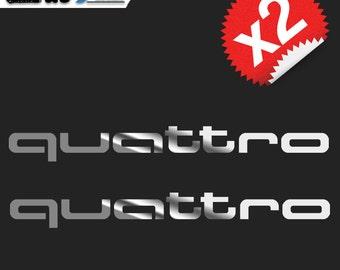 2 X 27CM AUDI QUATTRO - Vinyl Decal Sticker - Easy To Apply & Removable!