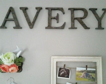 Rustic Wood Letter,Wall Letter,Farm House Decor,Reclaimed Wood Letter
