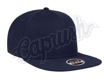 Custom Snapback Hats Embroidered Business Caps Navy 3D Puff Stitching