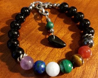 Chakra Black Onyx Balance Bracelet