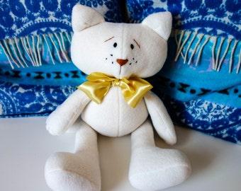 Elegant Cat with a ribbon