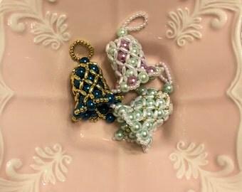 Custom Pearl Beaded Bell Ornament
