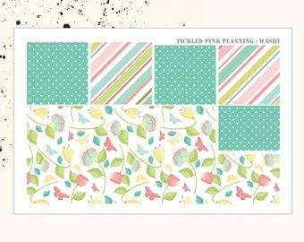 BLOOM AND GROW | Washi | Planner Stickers | Erin Condren Vertical