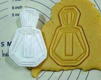 Perfume Bottle Cookie Cutter and Stamp