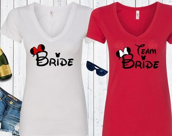 Bride Team Bride Disney Matching Bachelorette Tank Tops. Disneyland Bachelorette Party Shirts.Bride Tank. Bridal Party Tops [E0398][E0496]