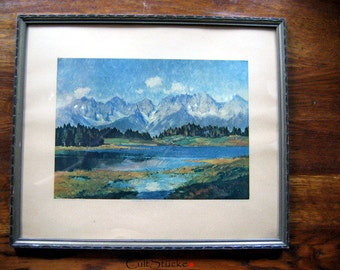 "Vintage frame with ""Wild Kaiser""-print"