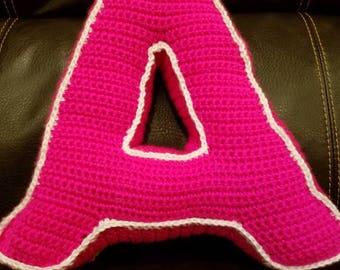 3-D Letter Pillows (crocheted)
