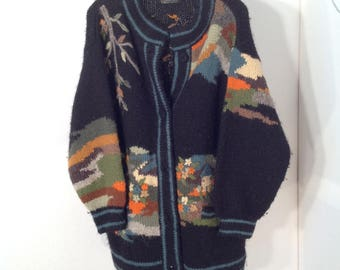 Hand knitted 100% new Wool sweater made in Yugoslavia