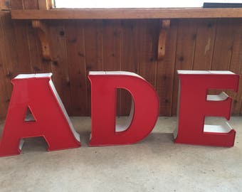 Large Marquee Letter Metal Sign