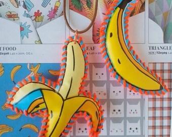 Go Bananas! Broche or Keychain | Hand Made
