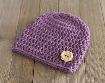 Crochet Baby Hat, Photography Prop, Newborn Hat, 0-3 Month Baby Hat, Crochet Beanie, Girl Baby Hat, Photography Prop Newborn, Crochet Beanie