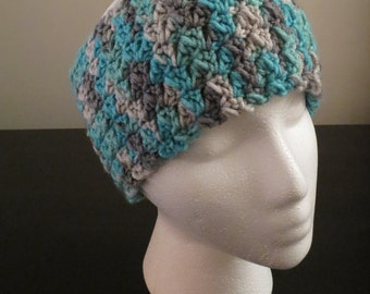 Blue Smoke Ear Warmer Headband
