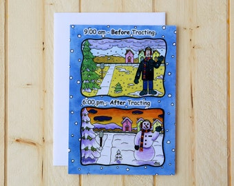 Missionary Greeting Card - Missionary Winter
