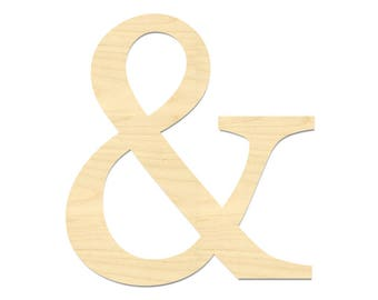 And Symbol Laser Cut Out- & Symbol- Ampersand Sign- Ampersand
