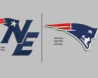 New England Patriots embroidery designs - 2 designs instant download