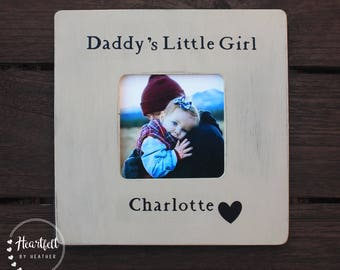 Personalized Picture Frame from Daughter Daddy's Little Girl First Father's Day Gift New Dad Gift Custom Picture Frame Distressed Rustic