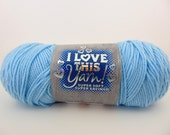 Soft blue - I Love This Yarn worsted weight 100% acrylic -1034
