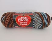 RESERVED>>>>>>>> Earth and Sky -  Red Heart Super Saver variegated yarn worsted weight - 3027
