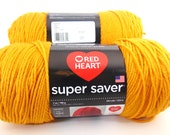 Gold  -  Red Heart Super Saver yarn worsted weight - 3048